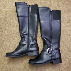 G By GUESS Womens Motorcycle Boots Black 8.5